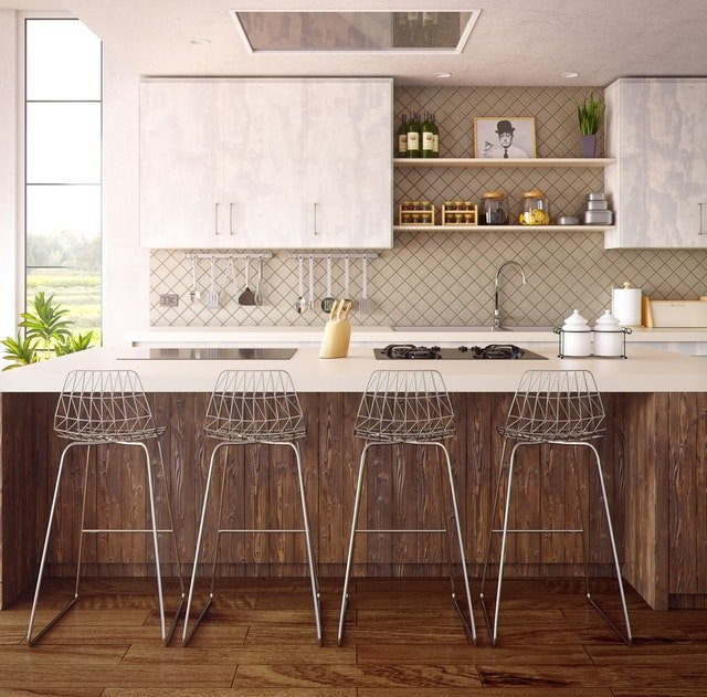Clean Kitchen Bar Stools